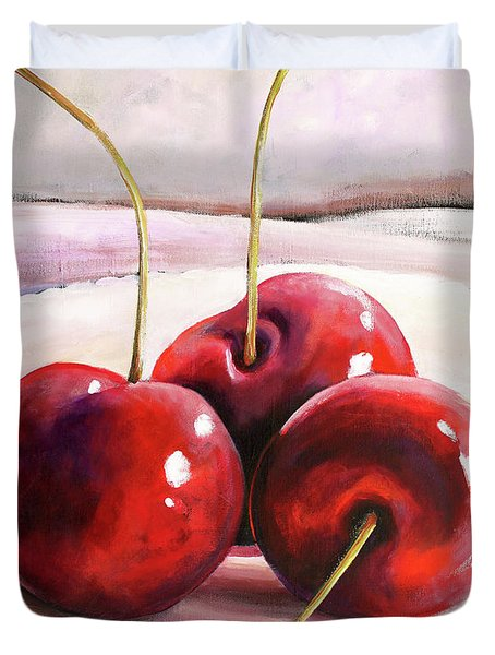 Luscious Cherries Duvet Cover by Toni Grote