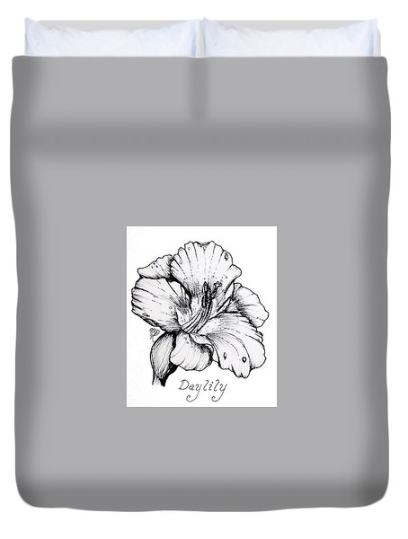 Luscious Daylily  Duvet Cover