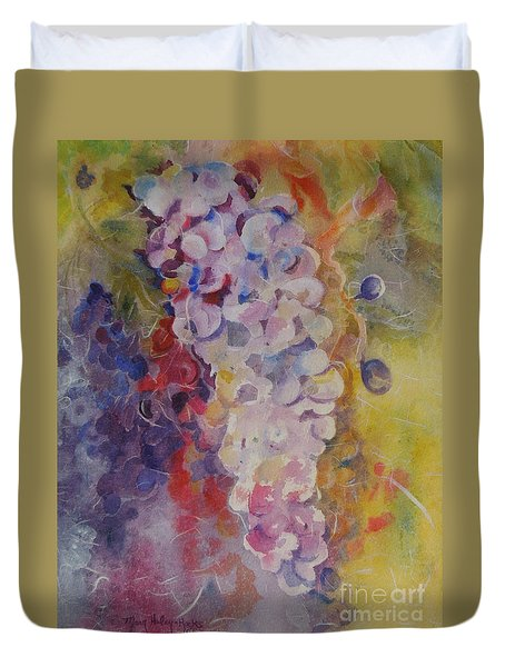 Luscious Grapes Duvet Cover by Mary Haley-Rocks