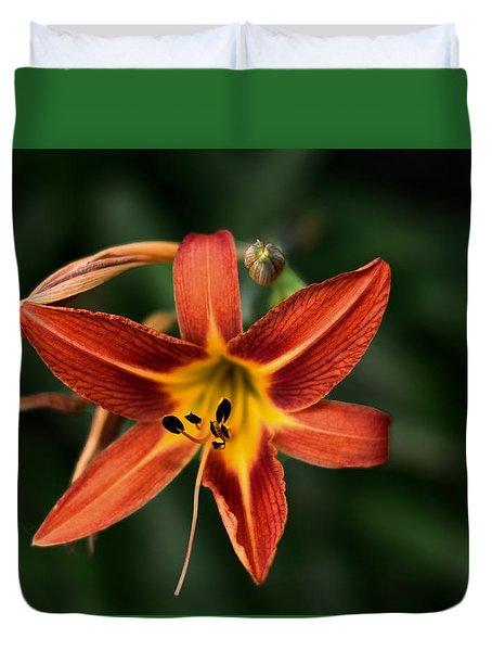 Luscious Tiger Lily Duvet Cover