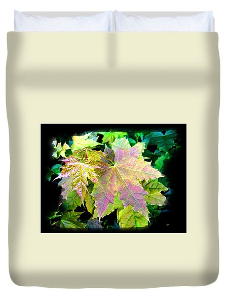Lush Spring Foliage Duvet Cover by Will Borden