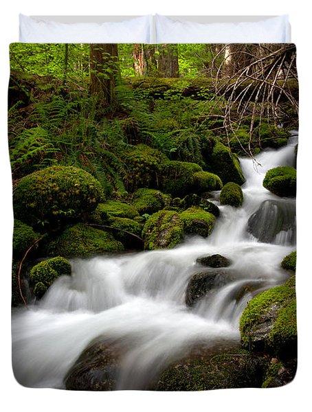 Lush Stream Duvet Cover by Mike Reid