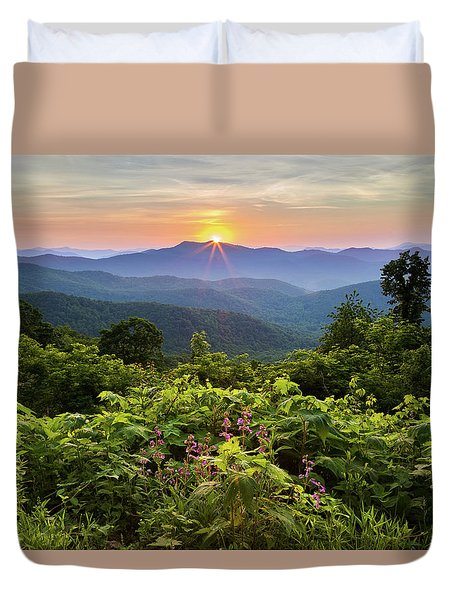 Lush Sunset In June Duvet Cover