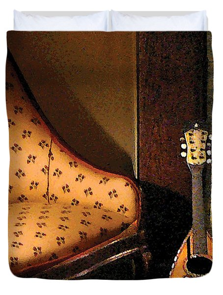 Lute Duvet Cover by Susan Savad