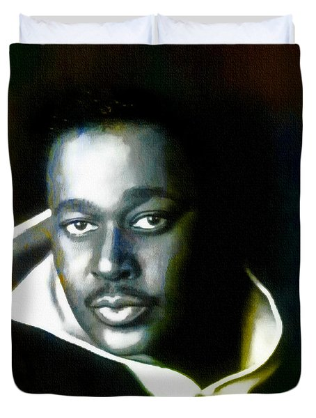 Luther Vandross - Singer  Duvet Cover