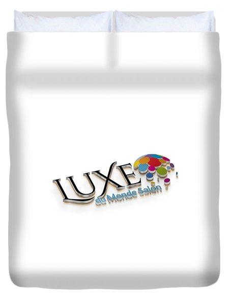 Luxe Logo 3d 2 Duvet Cover