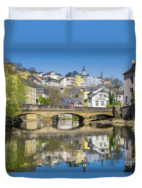 Luxembourg City Duvet Cover by JR Photography