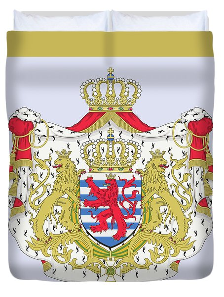 Luxembourg Coat Of Arms Duvet Cover by Movie Poster Prints