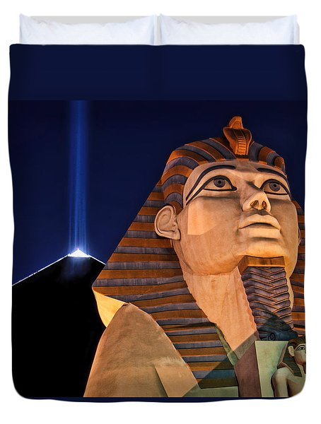 Duvet Cover featuring the photograph Luxor by Tammy Espino