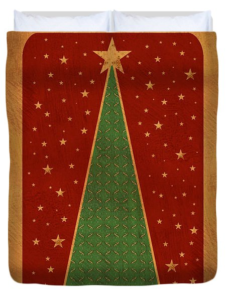 Luxurious Christmas Card Duvet Cover