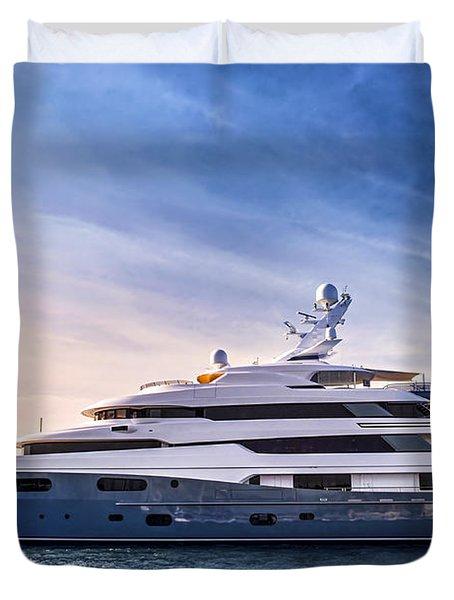 Luxury Yacht Duvet Cover by Elena Elisseeva