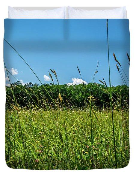 Lying In The Grass Duvet Cover