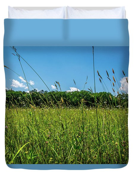 Lying In The Grass Duvet Cover