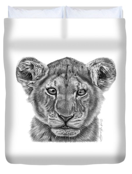 Lyla The Lion Cub Duvet Cover