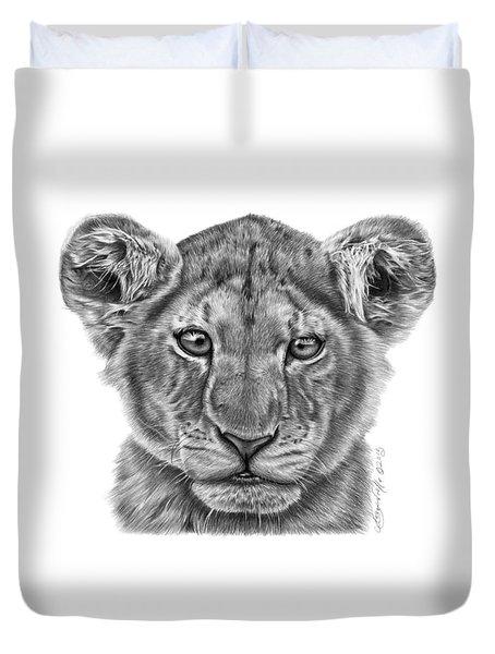 Lyla The Lion Cub Duvet Cover by Abbey Noelle