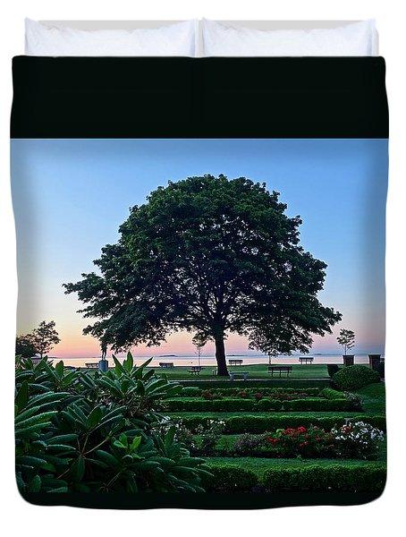 Lynch Park At Dawn Beverly Ma Duvet Cover