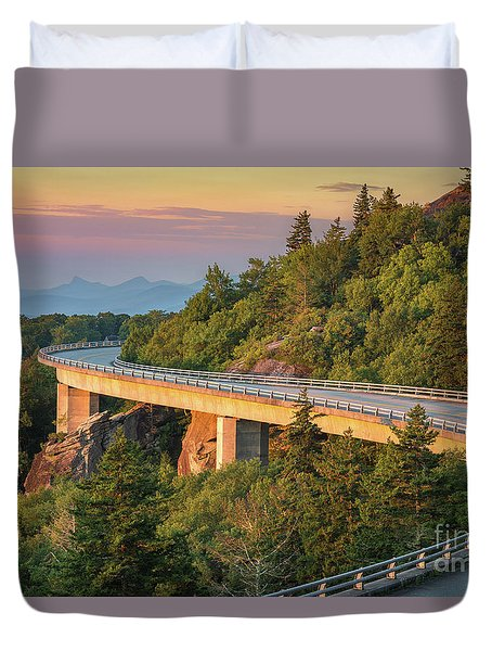 Lynn Cove Viaduct Duvet Cover by Anthony Heflin