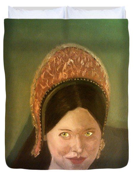 Lynne Frederick As Queen Katherine Howard Duvet Cover