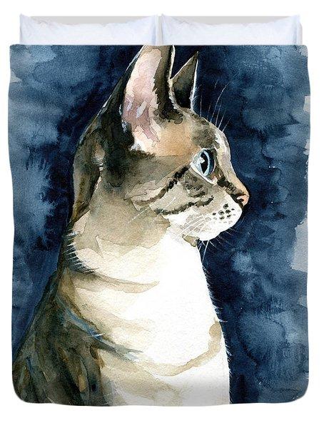 Lynx Point Cat Portrait Duvet Cover