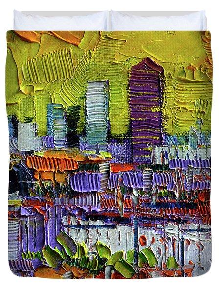 Lyon At Sunrise Duvet Cover