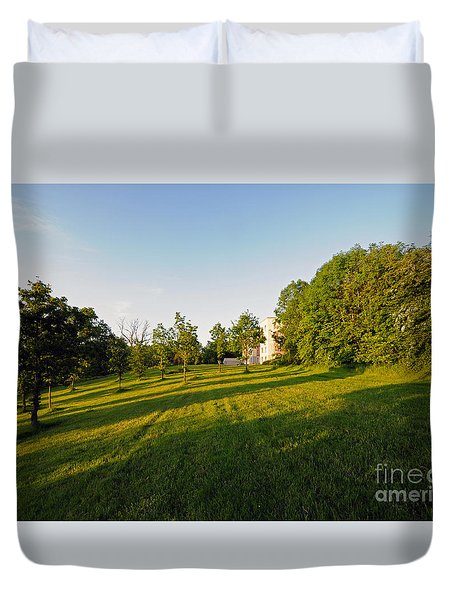 Lyrath Estate Hotel Grounds Duvet Cover by Cindy Murphy - NightVisions