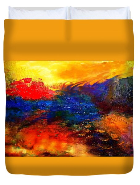 Lyrical Landscape Duvet Cover