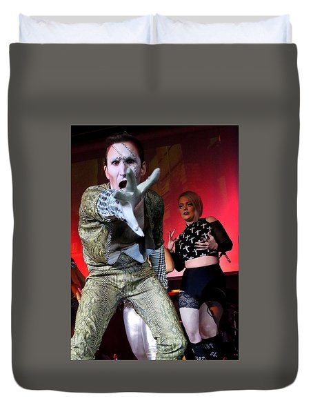 Duvet Cover featuring the photograph Lysol At Fifth Annual David Bowie Birthday Bash by John King