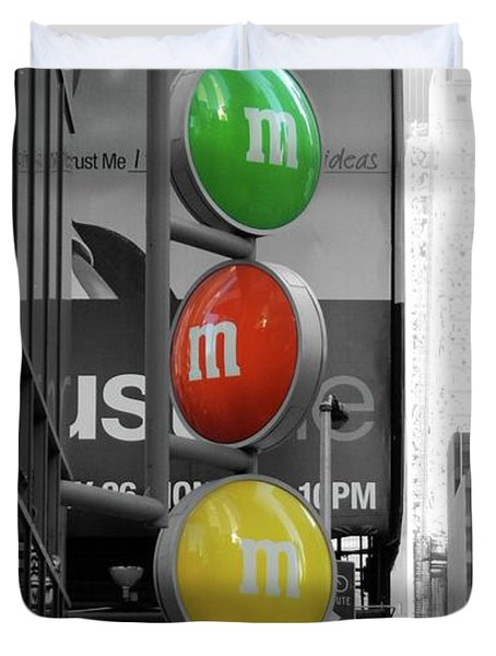 M And Ms In New York City Duvet Cover