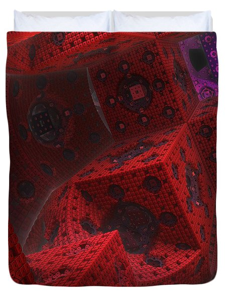 Duvet Cover featuring the digital art M Cubed by Lyle Hatch