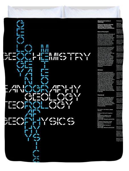 Duvet Cover featuring the photograph M. I. T. Graduate Program  1960s by Daniel Hagerman