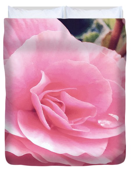 M Shades Of Pink Flowers Collection No. P64 Duvet Cover