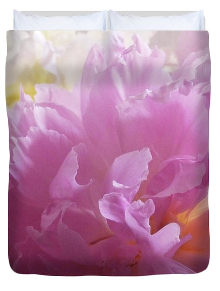 M Shades Of Pink Flowers Collection No. P72 Duvet Cover