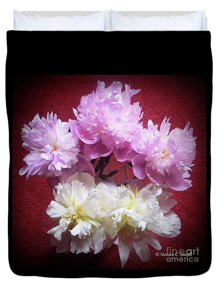 M Shades Of Pink Flowers Collection No. P73 Duvet Cover
