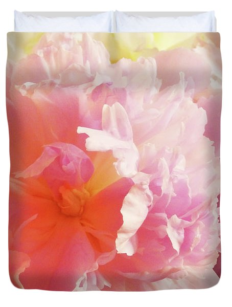 M Shades Of Pink Flowers Collection No. P74 Duvet Cover