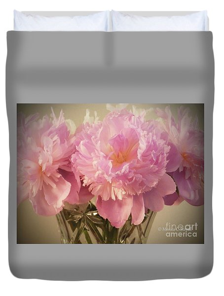 M Shades Of Pink Flowers Collection No. P75 Duvet Cover