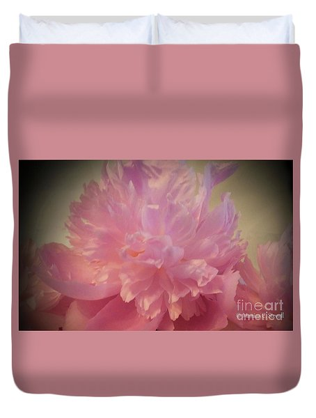 M Shades Of Pink Flowers Collection No. P78 Duvet Cover
