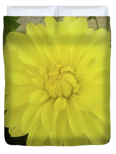 M Shades Of Yellow Flowers Collection No. Y90 Duvet Cover