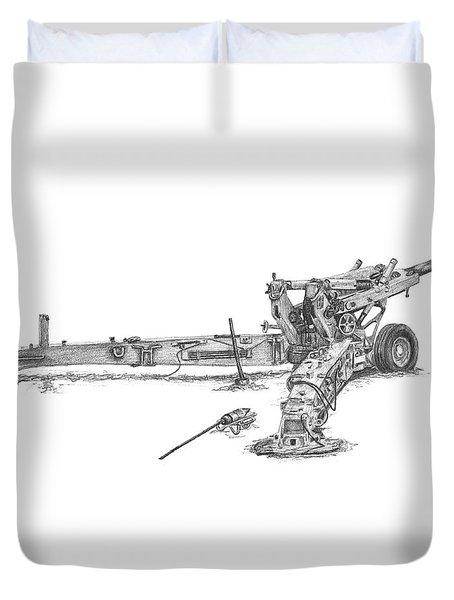 M198 Howitzer - Standard Size Prints Duvet Cover