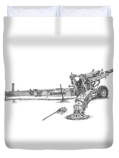 M198 Howitzer - Natural Sized Prints Duvet Cover