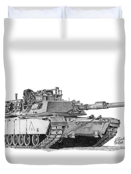 M1a1 A Company 3rd Platoon Duvet Cover