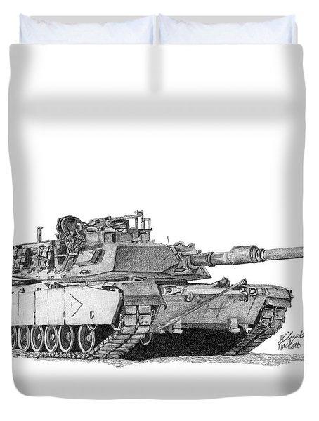 M1a1 B Company 1st Platoon Duvet Cover