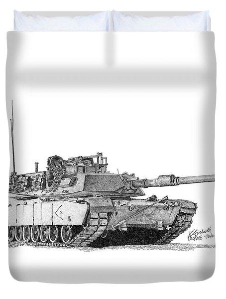 M1a1 D Company Xo Tank Duvet Cover
