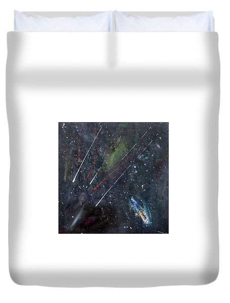 Duvet Cover featuring the painting M51 by Michael Lucarelli