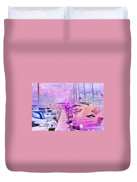 Marina In The Morning Glow Duvet Cover