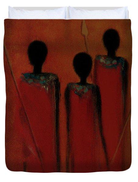 Maasai Trio  Duvet Cover