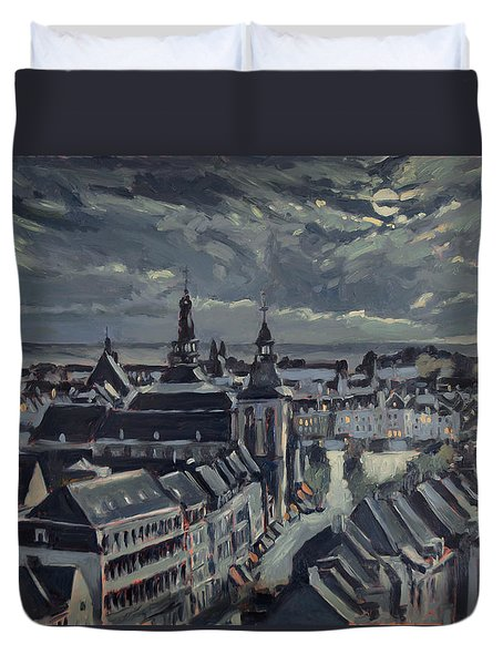 Maastricht By Moon Light Duvet Cover