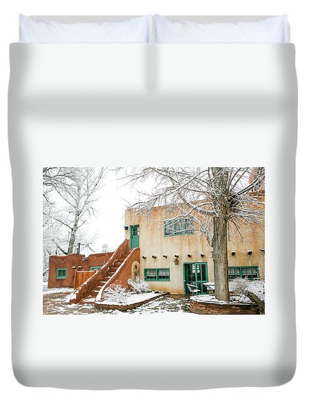 Duvet Cover featuring the photograph Mabel Dodge House 2 by Marilyn Hunt