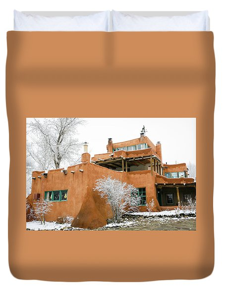 Duvet Cover featuring the photograph Mabel Luhan Dodge House 1 by Marilyn Hunt