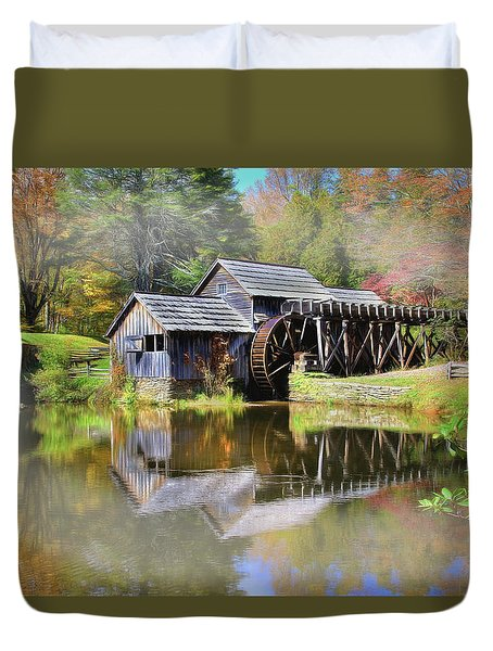 Mabry Grist Mill Duvet Cover
