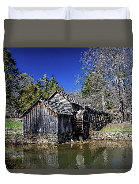 Mabry Mill Late Fall Duvet Cover